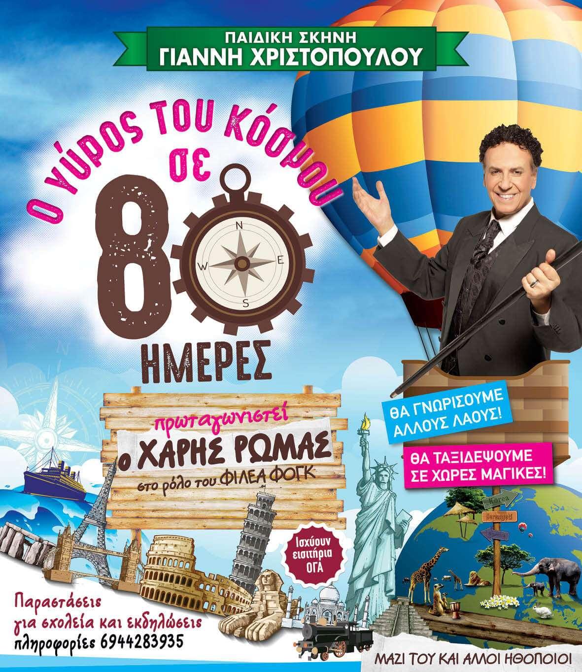 around the world poster30x43.5cm
